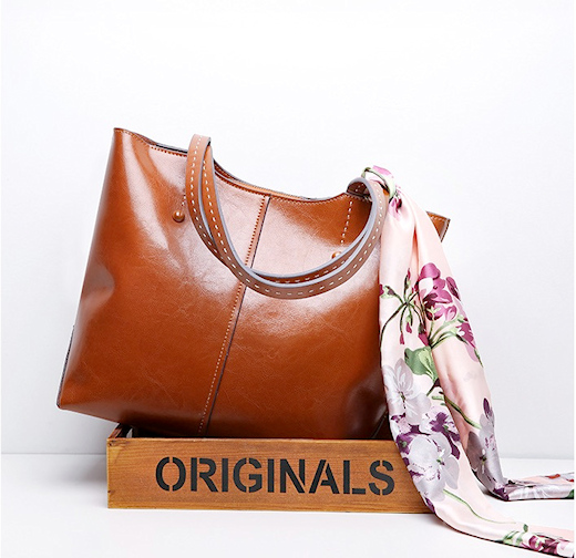 Classic Large Soft Genuine Leather Tote