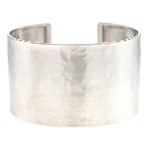 Sterling Silver Hammered 37mm Cuff
