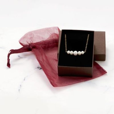 14K Gold 5 Cultured Freshwater Pearls Necklace