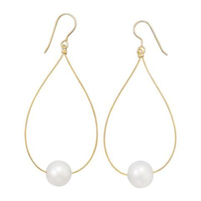 24K Gold Plated Cultured Freshwater Pearl Earrings