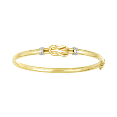 14K 2-Tone Gold Knot Bangle