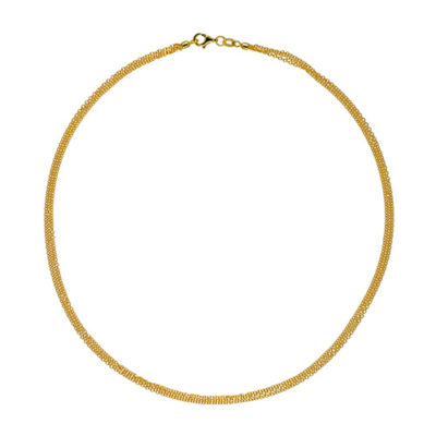 14K Yellow Gold 3 Strands Cable Necklace
