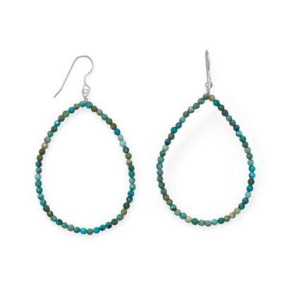 Natural Turquoise Statement Earrings