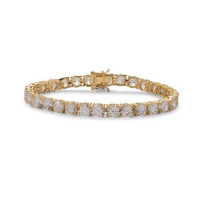 7.5″ Gold Plated 6mm CZ Tennis Bracelet