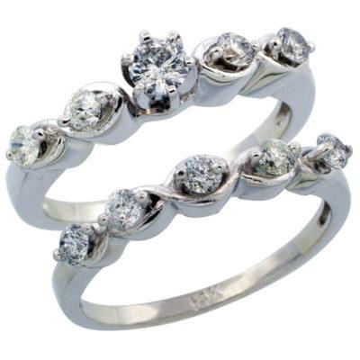 14K White Gold 2-Piece Diamond Engagement Ring & Band Set
